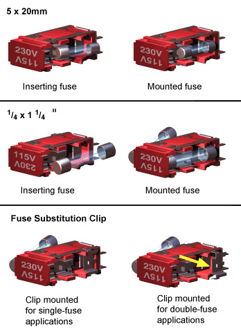 fuse mounting