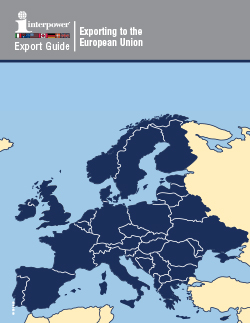 Export Guide Exporting to the European Union