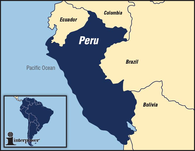 Interpower map of Peru