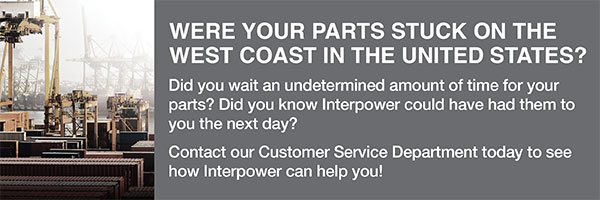 Why wait an undetermined amount of time for your parts when we can have them to you tomorrow? Contact our Customer Service department today to see how Interpower can help you! Interpower has over 4 million parts and 100,000 cords in stock for same day shipments! We manufacture in the United States and offer a 1-week manufacturing lead-time on non-stock items.